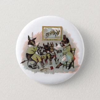 Donkey School Antique Illustration Button