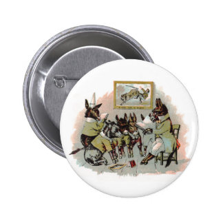 Donkey School Antique Illustration Pinback Button