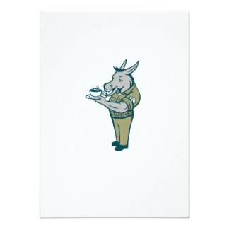 Donkey Sergeant Army Standing Drinking Coffee Cart Card