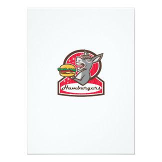 Donkey Serving Burger Diner Retro Card