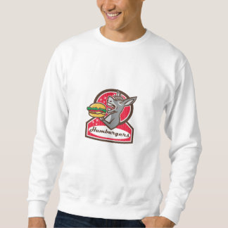 Donkey Serving Burger Diner Retro Sweatshirt