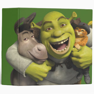 Donkey, Shrek, And Puss In Boots Binder