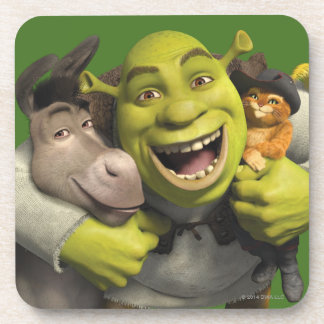 Donkey, Shrek, And Puss In Boots Coaster