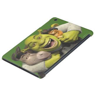 Donkey, Shrek, And Puss In Boots iPad Mini Cases