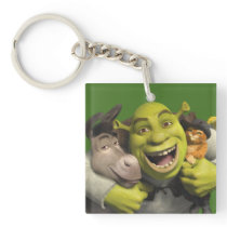 Donkey, Shrek, And Puss In Boots Keychain