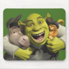 Donkey, Shrek, And Puss In Boots Mouse Pad