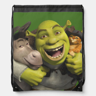 Donkey, Shrek, And Puss In Boots Drawstring Backpacks