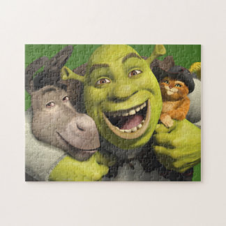 Donkey, Shrek, And Puss In Boots Jigsaw Puzzles