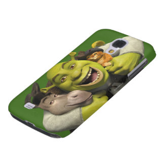 Donkey, Shrek, And Puss In Boots Samsung Galaxy S4 Cover