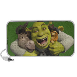 Donkey, Shrek, And Puss In Boots Mini Speakers