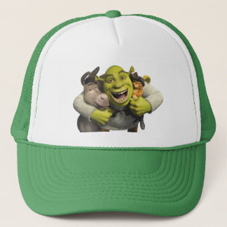 Donkey, Shrek, And Puss In Boots Trucker Hat