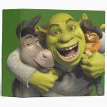 Donkey, Shrek, And Puss In Boots Vinyl Binders