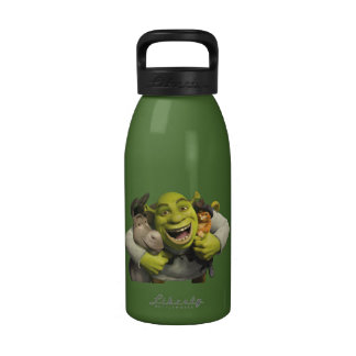 Donkey, Shrek, And Puss In Boots Water Bottle