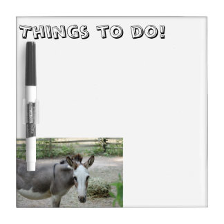 Donkey Things to Do List Board Dry Erase Whiteboards
