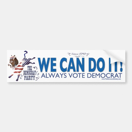 Donkey USA Kick Bumper Sticker
