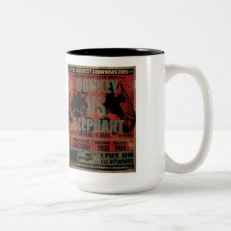 Donkey vs. Elephant Coffee Mug