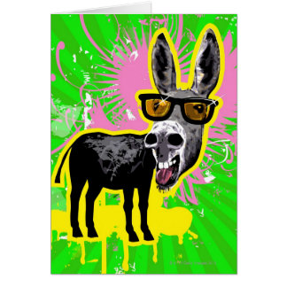Donkey Wearing Sunglasses Greeting Card