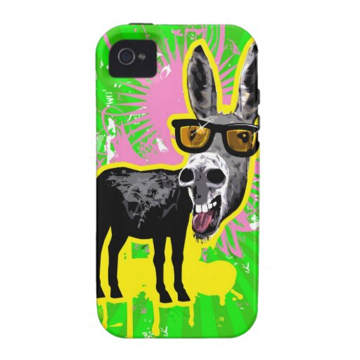 Donkey Wearing Sunglasses Vibe iPhone 4 Cover