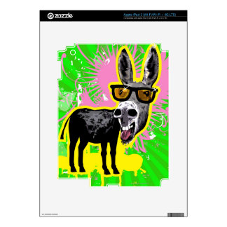 Donkey Wearing Sunglasses Decals For iPad 3