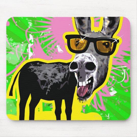 Donkey Wearing Sunglasses Mouse Pad