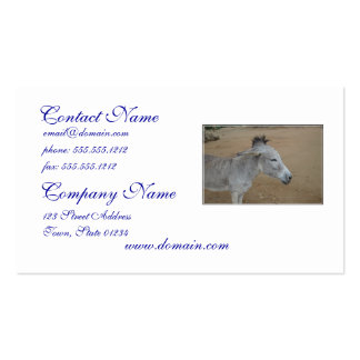 Donkey with a Mohawk Business Card Templates
