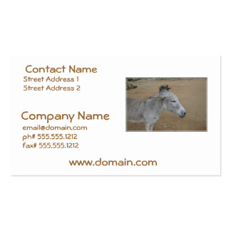 Donkey with a Mohawk Business Cards