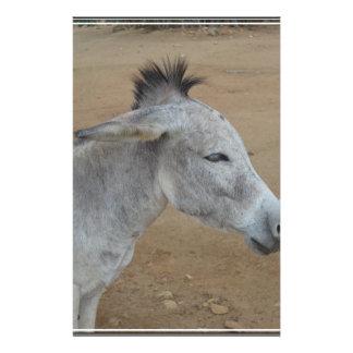 Donkey with a Mohawk Stationery Design
