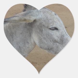 Donkey with a Mohawk Heart Sticker