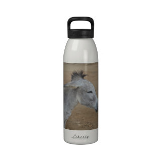 Donkey with a Mohawk Reusable Water Bottles