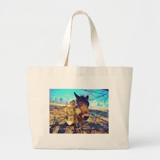 Donkey with Rose Cross Bag