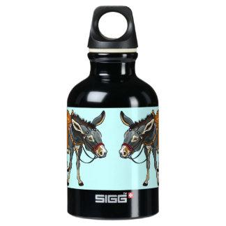 donkey with saddle aluminum water bottle