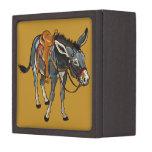 donkey with saddle premium jewelry box