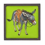 donkey with saddle premium trinket boxes