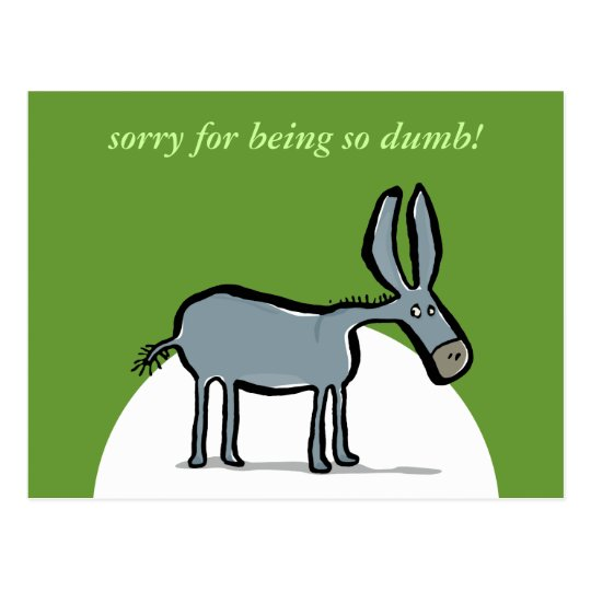donkey - with your own words! postcard