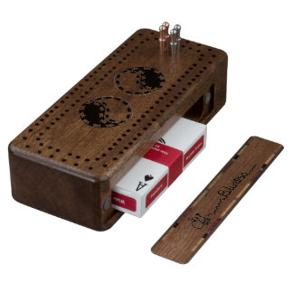 donkey yin yang walnut cribbage board