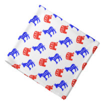 Donkeys and Elephants Bandana