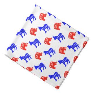 Donkeys and Elephants Bandana