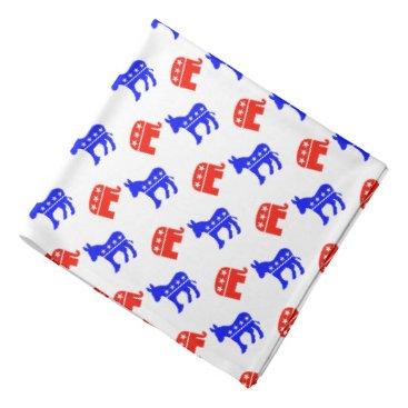 WRAPPED_TOO_TIGHT Donkeys and Elephants Bandana