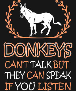 bdc6cd74eae Donkeys Cant Talk They Can Speak If You Listen T-Shirt
