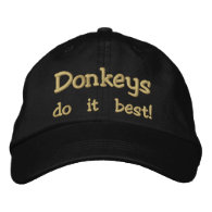 Donkeys do it best! embroidered hats