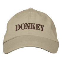 DONKEYS EMBROIDERED BASEBALL CAP