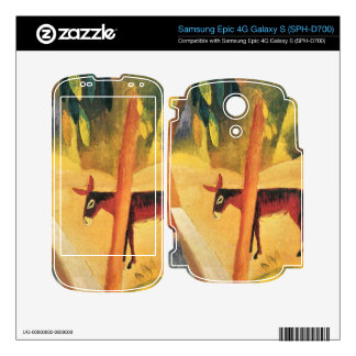 Donkeys in the palms by August Macke Skins For Samsung Epic