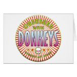 Donkeys Obsessed R Greeting Cards
