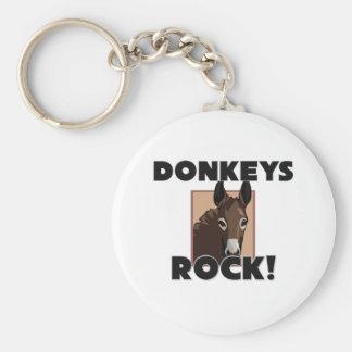Donkeys Rock Keychain