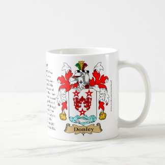 Donley, the Origin, the Meaning and the Crest Coffee Mug