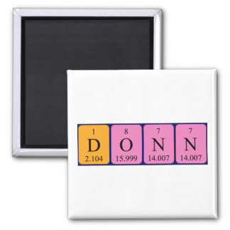 Donn periodic table name magnet