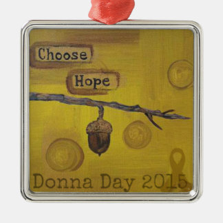Donna Day 2015 Products, Donating 100% Profit Square Metal Christmas Ornament