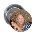 Donna Hart's 50 2 Inch Round Button