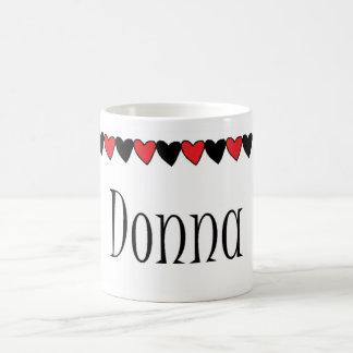Donna Hearts Name Coffee Mugs
