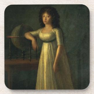 Donna Joaquina Tellez-Giron, daughter of the Duke Beverage Coaster